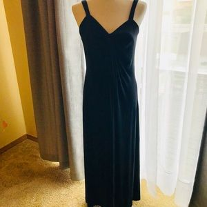 Soma LARGE Maxi Dress Black Jersey front twist